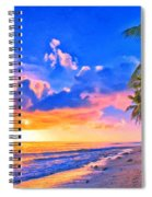 Sunset Glow On The Kona Coast Spiral Notebook