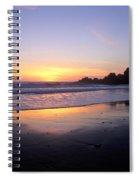 Sunset Gold Big Sur Spiral Notebook