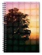 Sunset Grid 2 Spiral Notebook