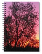Sunset In April- Silute Lithuania Spiral Notebook