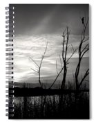 Sunset In Black And White Spiral Notebook