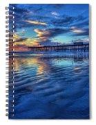Sunset In Blue Spiral Notebook