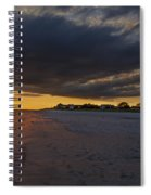 Sunset In Cape May Along The Beach Spiral Notebook