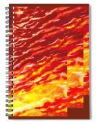 Sunset In Desert Abstract Collage  Spiral Notebook