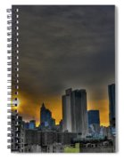 Sunset In Manhattan's Lower East Side Spiral Notebook