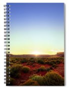 Sunset In Monument Valley Spiral Notebook