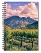 Sunset In Napa Valley Spiral Notebook