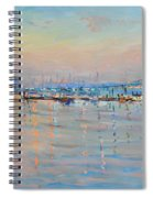 Sunset In Piermont Harbor Ny Spiral Notebook