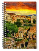 Sunset In Rome Spiral Notebook