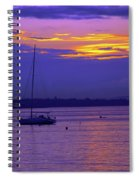 Sunset In Skerries Harbor Spiral Notebook