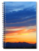 Sunset In The Black Mountains Spiral Notebook