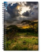 Sunset In The Bush Spiral Notebook