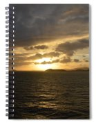 Sunset In The Caribbean Spiral Notebook