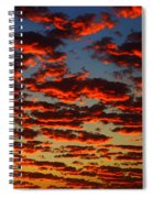 Sunset In The Clouds Spiral Notebook