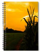 Sunset In The Cornfield Spiral Notebook