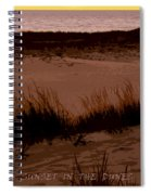 Sunset In The Dunes Spiral Notebook