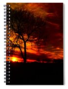 Sunset In The Field Spiral Notebook
