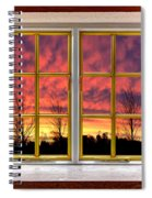Sunset In The Garden Spiral Notebook