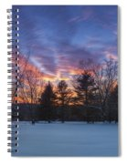 Sunset In The Park Spiral Notebook