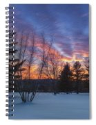 Sunset In The Park Square Spiral Notebook
