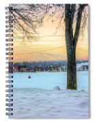 Sunset In The Snow Spiral Notebook
