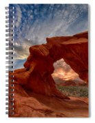 Sunset In The Valley Of Fire Spiral Notebook