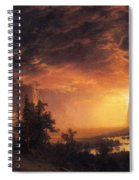 Sunset In The Yosemite Valley Spiral Notebook