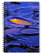 Sunset In Tide Pools Spiral Notebook