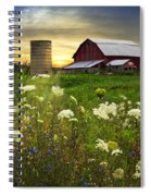 Sunset Lace Pastures Spiral Notebook