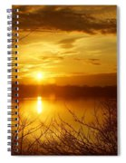 Sunset Lake Galena Spiral Notebook