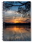 Sunset Lake Horicon Lakehurst New Jersey Spiral Notebook