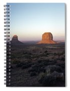 Sunset Light With Mittens And Desert In Monument Valley Arizona  Spiral Notebook