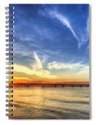 Sunset Mackinac Bridge Spiral Notebook