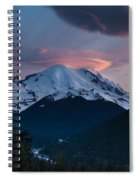 Sunset Mount Rainier Spiral Notebook