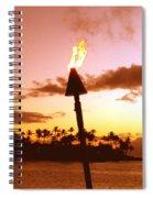 Sunset Napili Maui Hawaii Spiral Notebook