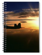 Sunset Of The Raptor Spiral Notebook