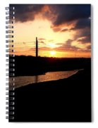 Sunset Of The Trinity River Spiral Notebook