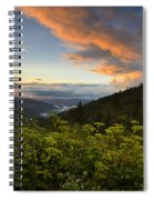 Sunset On Clingman's Dome Spiral Notebook
