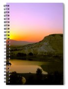 Sunset On Cotton Castles Spiral Notebook