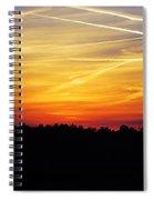 Sunset On Fire Spiral Notebook