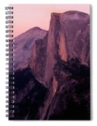 Sunset On Half Dome As Seen Spiral Notebook
