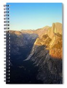 Sunset On Half Dome In Yosemite Spiral Notebook