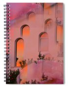 Sunset On Houses Spiral Notebook