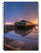 Sunset On Jekyll Island Spiral Notebook