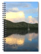 Sunset On Komodo Spiral Notebook