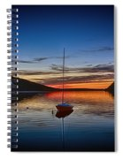 Sunset On Lake Willoughby Spiral Notebook