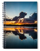 Sunset On Little Pine Lake Spiral Notebook