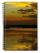 Sunset On Medicine Lake Spiral Notebook