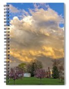 Sunset On Mixed Clouds Spiral Notebook