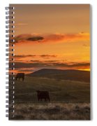 Sunset On Open Range Spiral Notebook
